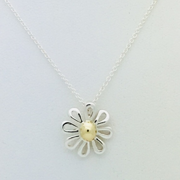 8ae2223c0 Tiffany & Co. Jewelry   Tiffany Co Silver Gold Daisy Flower Necklace ...